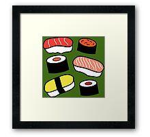 More Sushi Framed Print