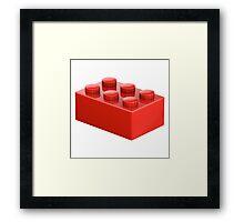 Toy Brick Framed Print