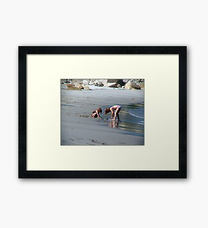 Two in the Sand Framed Print