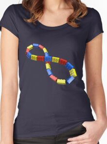 Toy Brick Infinity Women's Fitted Scoop T-Shirt