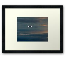 Rainy Night Flight Framed Print