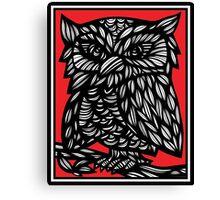 Kleiber Parrot Red White Black Canvas Print