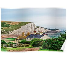 Coastguard Cottages at Seven Sisters #2, Seaford, England Poster