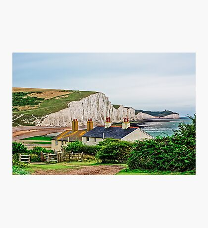 Coastguard Cottages at Seven Sisters #2, Seaford, England Photographic Print