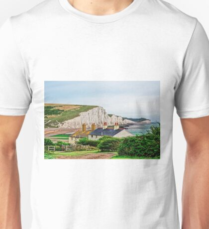 Coastguard Cottages at Seven Sisters #2, Seaford, England Unisex T-Shirt
