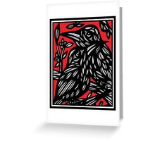 Mcculough Parrot Red White Black Greeting Card