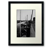 Blakeney Harbour in B&W Framed Print