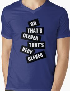 """Clever"" Mens V-Neck T-Shirt"