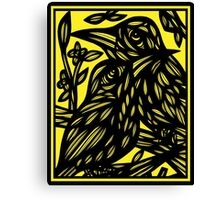 Keawe Bird Yellow Black Canvas Print