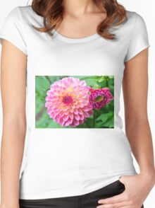 Dahlia Duo Women's Fitted Scoop T-Shirt