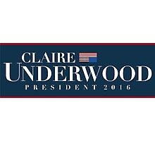 Claire Underwood Photographic Print