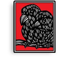 Coverton Parrot Red White Black Canvas Print