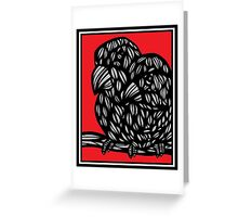 Coverton Parrot Red White Black Greeting Card