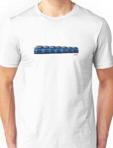Subaru WRX STi generations - V1 Unisex T-Shirt