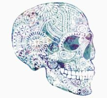 Blue Reflective Skull by adjsr