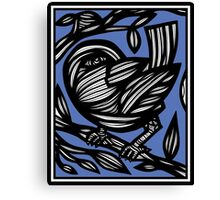 Smigiel Bird Blue White Canvas Print