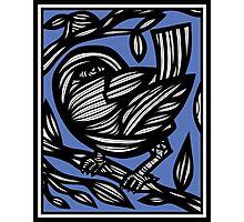 Smigiel Bird Blue White Photographic Print