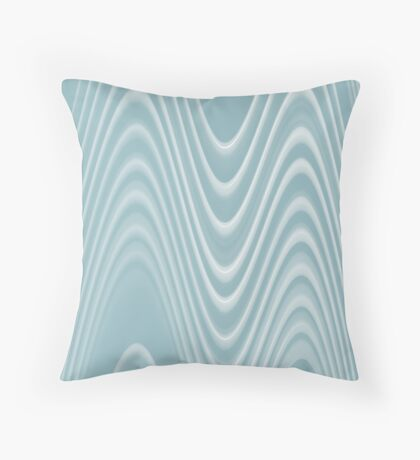 light blue double swerve Throw Pillow