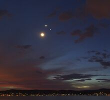 Smiley Face Conjunction Panorama by Mike Salway