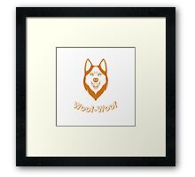 Print of fun Husky Framed Print