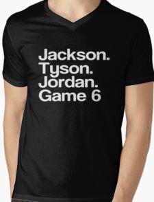 Jay-Z -- Tyson, Jackson, Jordan - game 6. Mens V-Neck T-Shirt