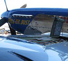 P51 Mustang Hell-er Bust gun amo by lizalady