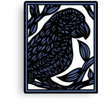 Carlill Parrot Blue White Canvas Print