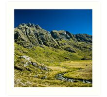 green valley on routebourn track Art Print