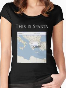 Actually, This is Sparta. Women's Fitted Scoop T-Shirt