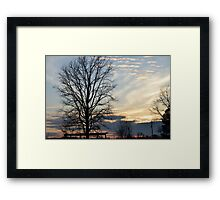 Sunset Seven Springs Framed Print