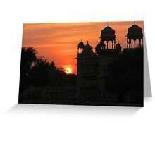 Sunset over Jaisalmer Greeting Card