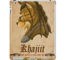 Khajiit has wares iPad Case/Skin