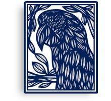 Debell Parrot Blue White Canvas Print