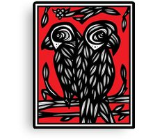 Urry Parrot Red White Black Canvas Print