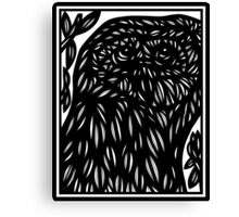 Nipps Owl Black and White Canvas Print