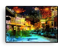 Small Town Saturday Night Canvas Print