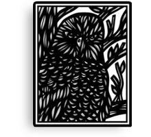 Sayward Eagle Hawk Black and White Canvas Print