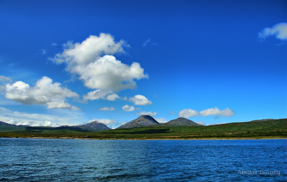 Lowlandman's bay, Jura, looking west to the Paps by Alisdair Gurney