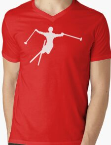 ski : silhouettes Mens V-Neck T-Shirt