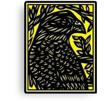 Warr Eagle Hawk Yellow Black Canvas Print