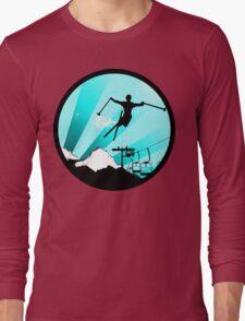 ski : powder trail Long Sleeve T-Shirt