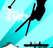 ski : powder trail Sticker