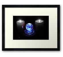 Crystal Ball in Blue Framed Print