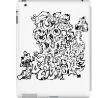 Wacky Words Black iPad Case/Skin