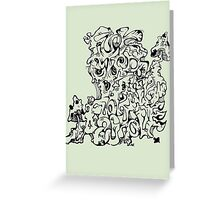 Wacky Words Black Greeting Card