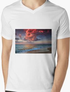 Reflective Cloud Mens V-Neck T-Shirt