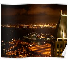 Port of San Diego at Night Poster