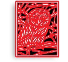 Stezzi Owl Red White Black Canvas Print