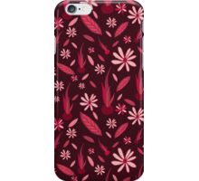 Shades of Red Floral Pattern iPhone Case/Skin