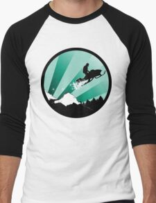 snowmobile : powder trail Men's Baseball ¾ T-Shirt